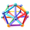2020 Wholesale Puzzle Toy Colorful Magnet Sticks with Steel Balls Magnetic Bars And Balls