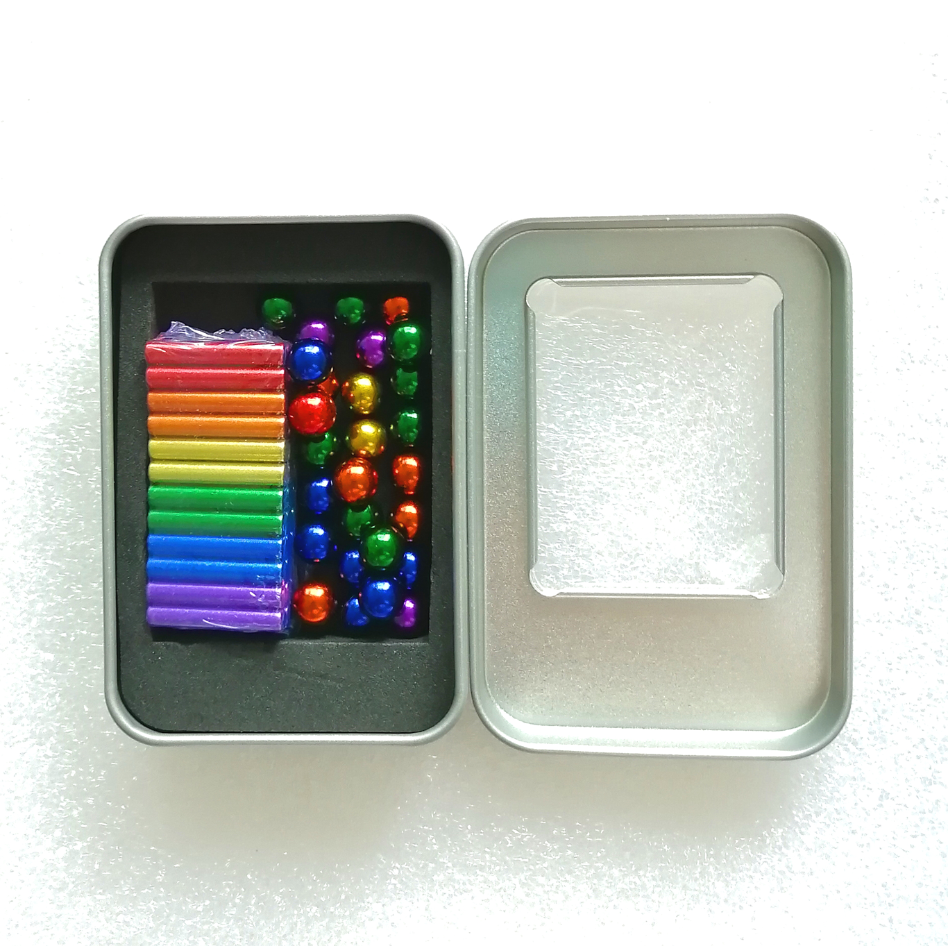 2020 Wholesale Colorful Magnet Sticks with Steel Balls Magnetic Bars And Balls
